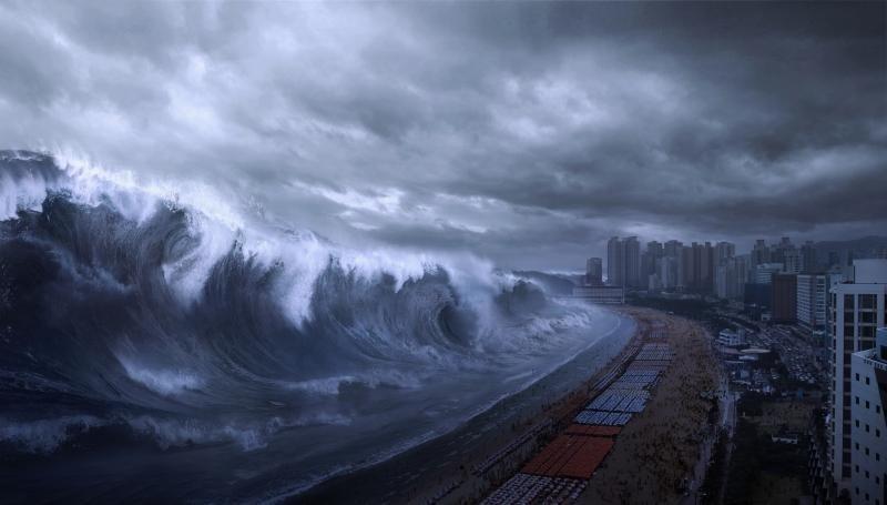 Una scena del catastrofico Haeundae