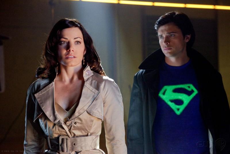Una sequenza dell'episodio Charade di Smallville con Erica Durance e Tom Welling