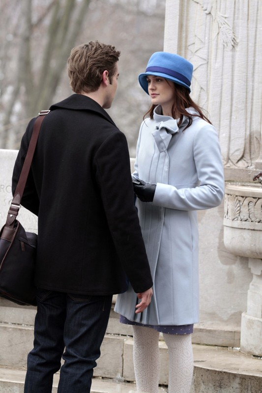 Leighton Meester incontra Chace Crawford in una scena dell'episodio It's a Dad, Dad, Dad, Dad World  di Gossip Girl