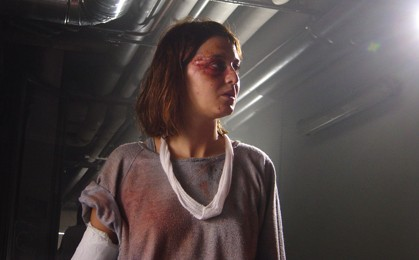 Paola Cortellesi in una sequenza del film La fisica dell'acqua