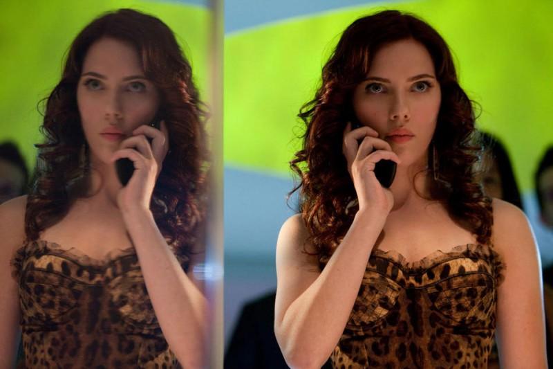 Una sensuale Scarlett Johansson nel film Iron Man 2