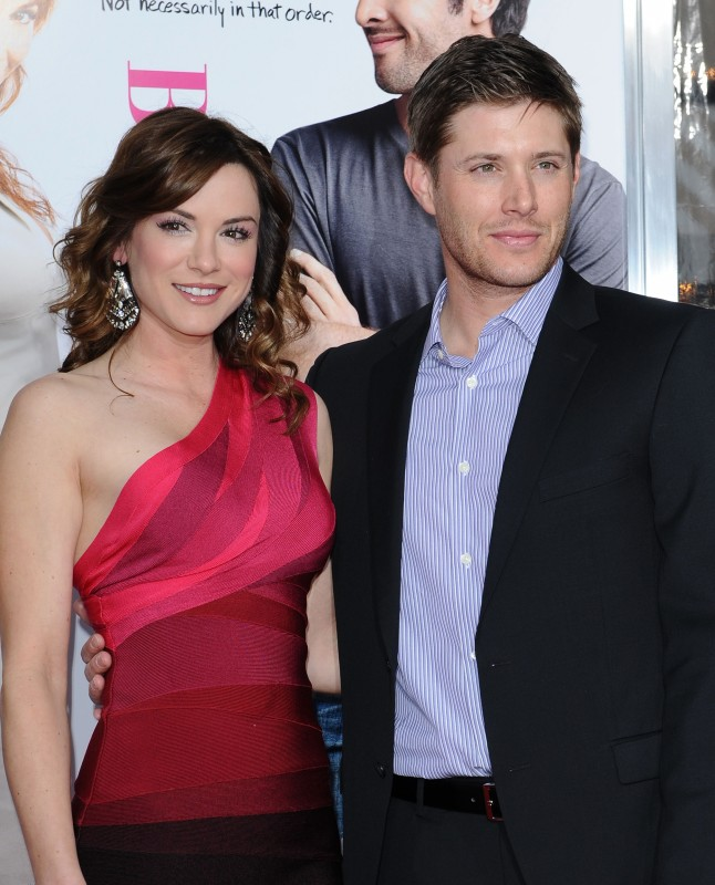 Danneel Harris e il fidanzato Jensen Ackles alla Premiere di The Back-Up Plan