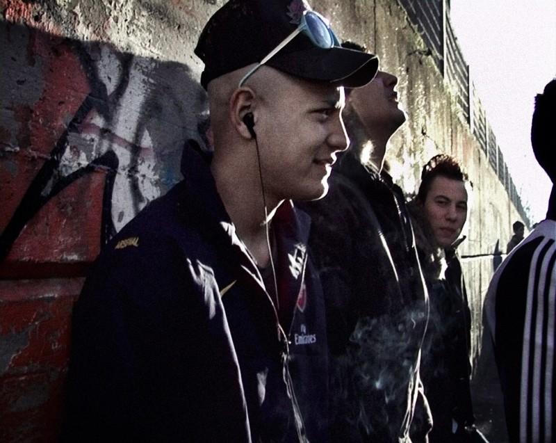Nader Sarhan in un'immagine tratta dal film Fratelli d'Italia