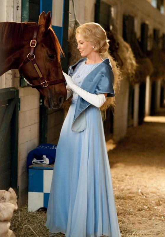 Diane Lane e il suo cavallo in Secretariat