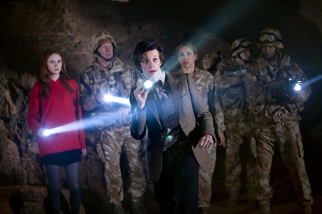 Doctor Who: Matt Smith in un momento dell'episodio The Time of Angels