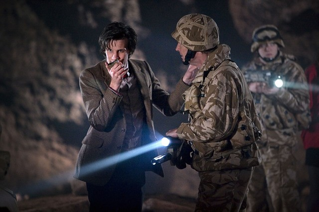 Doctor Who: Matt Smith in una scena dell'episodio The Time of Angels