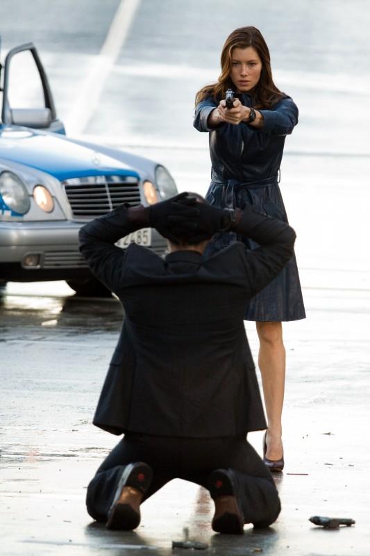 Jessica Biel in una scena del film The A-Team