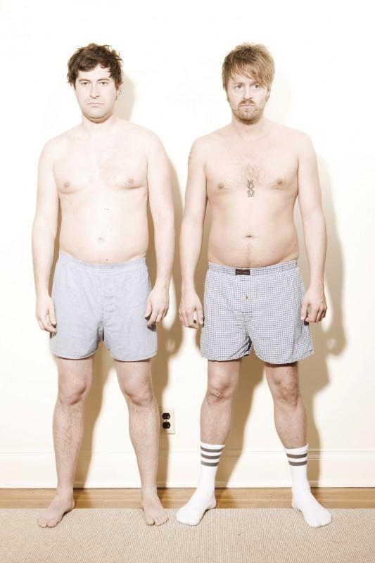 Joshua Leonard e Mark Duplass in un'immagine promozionale del film Humpday