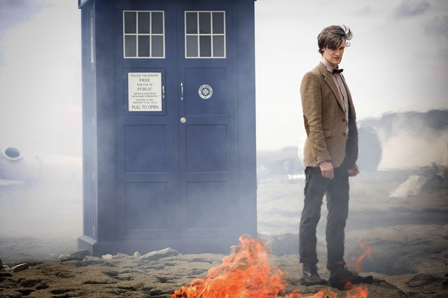 Matt Smith in una scena dell'episodio The Time of Angels di Doctor Who