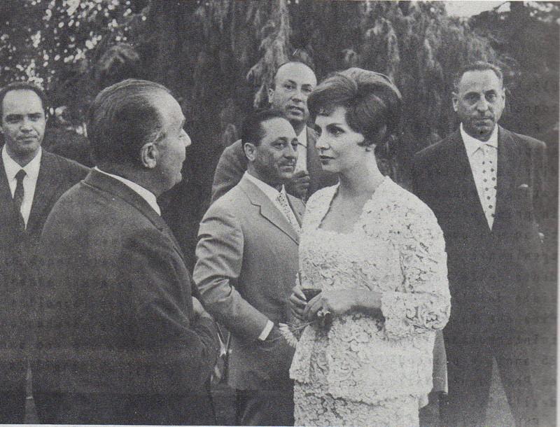 Giovanni Amati con Gina Loloobrigida