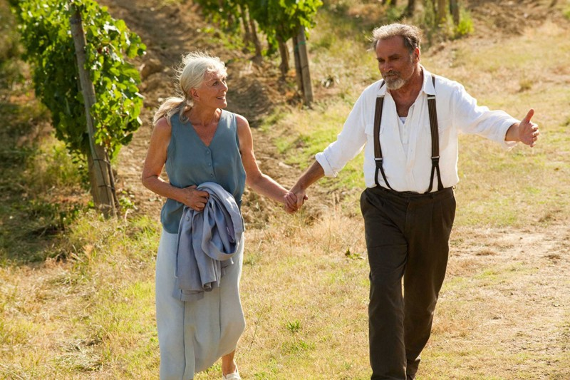 Vanessa Redgrave e Franco Nero in una sequenza del film Letters to Juliet