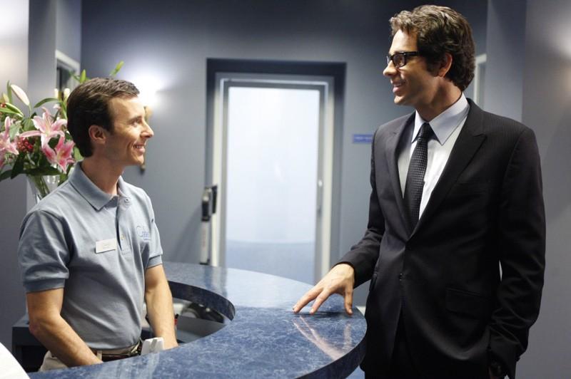 Zachary Levi durante una sequenza dell'episodio Chuck Versus the Final Exam