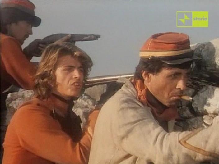 Antonio Orfanò con Kim Rossi Stuart in una scena del film Garibaldi - Il Generale, regia di Luigi Magni