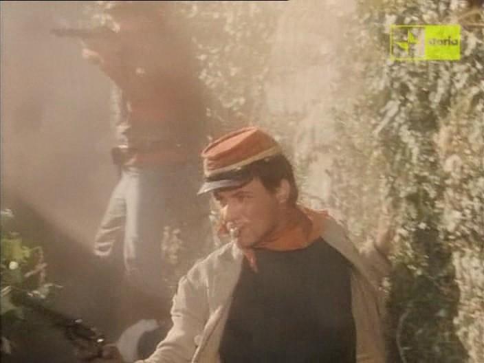 Antonio Orfanò nella scena della battaglia di Castelvolturno del film Garibaldi - Il Generale di Luigi Magni