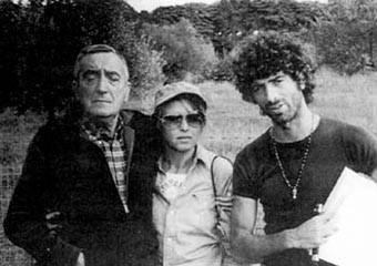 Mario Bava e Don Backy sul set del film Semaforo Rosso (Cani arrabbiati)