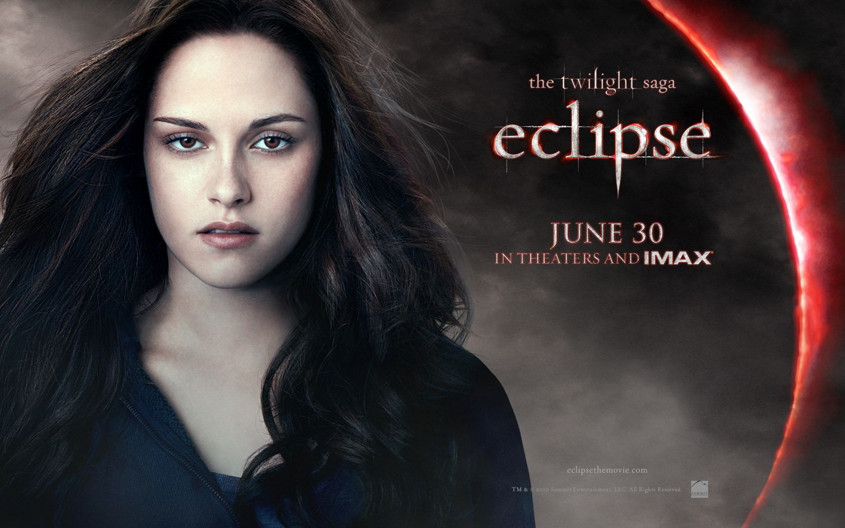 Il wallpaper ufficiale di Bella (Kristen Stewart) del film The Twilight Saga: Eclipse