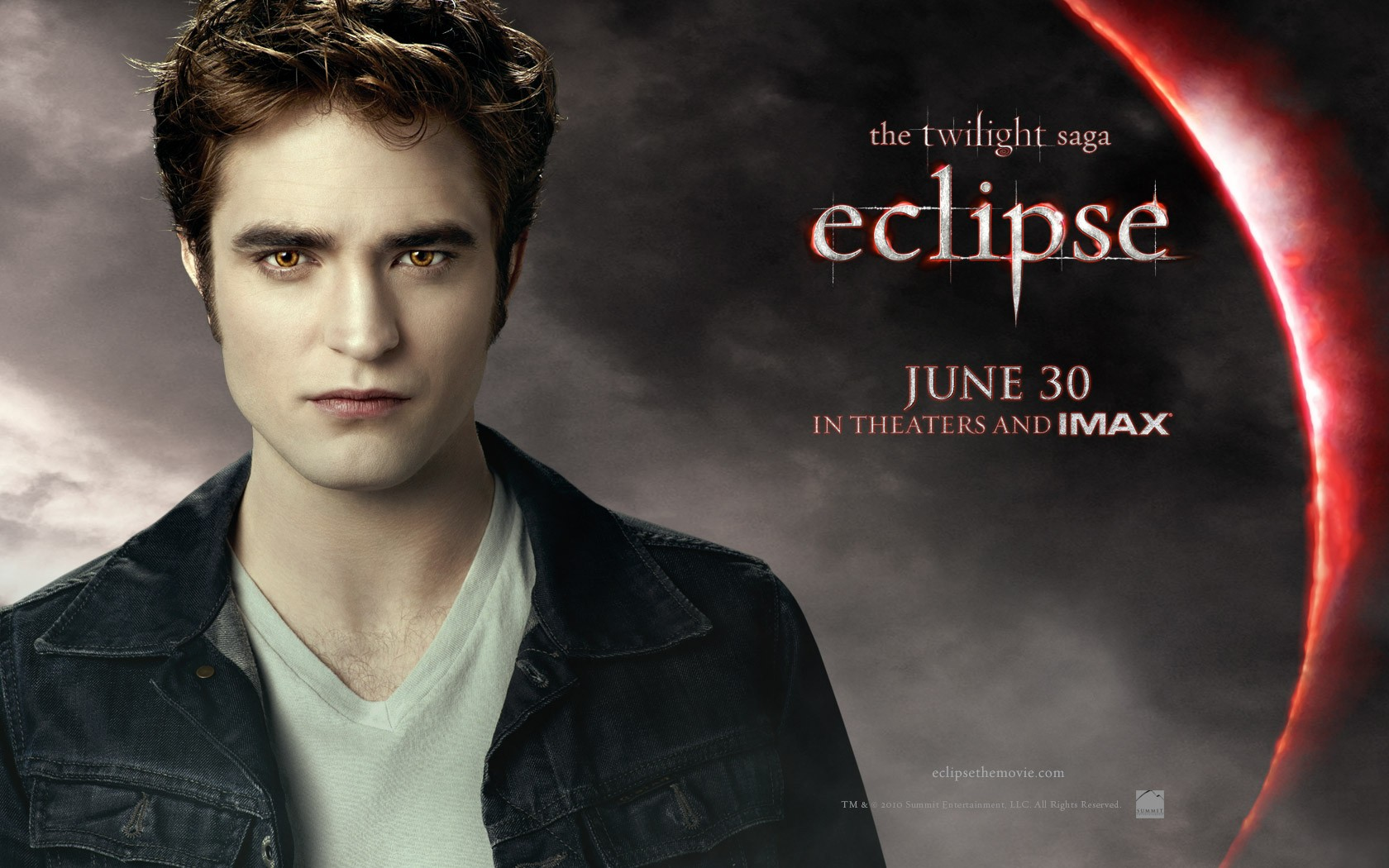 Il wallpaper ufficiale di Edward (Robert Pattinson) del film The Twilight Saga: Eclipse