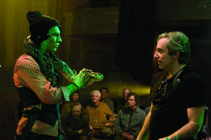 Patrick Fugit e il regista Paul Weitz sul set del film Aiuto Vampiro