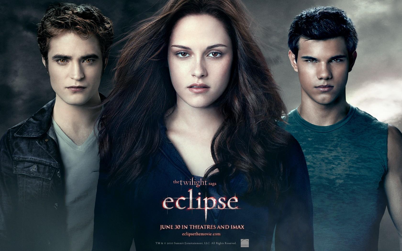 Un wallpaper ufficiale, con il trio protagonista, del film The Twilight Saga: Eclipse