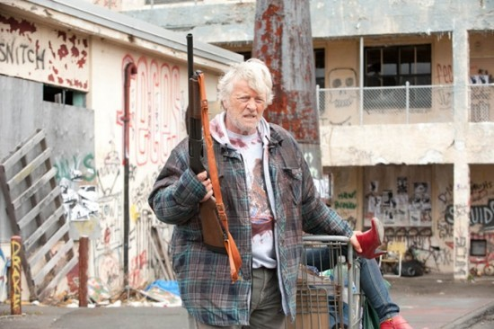 Rutger Hauer in Hobo with a Shotgun