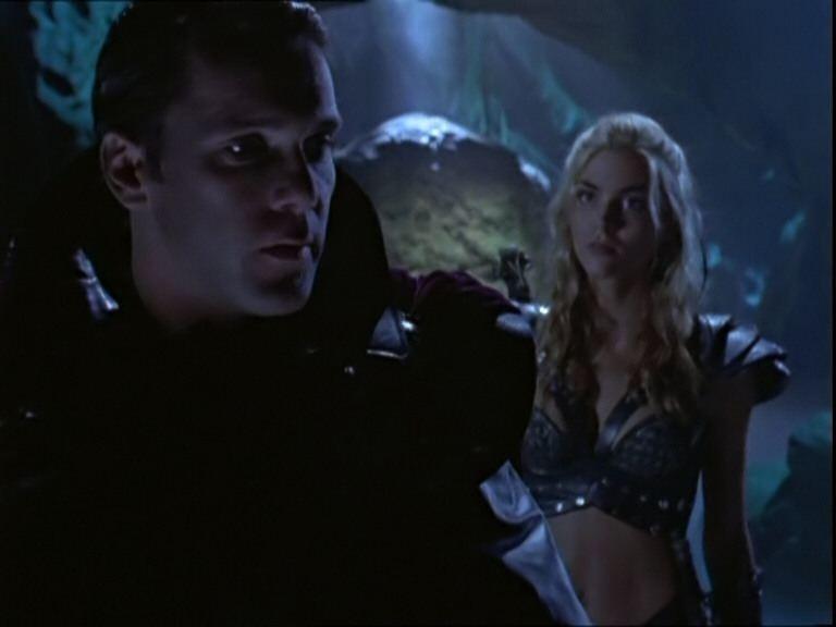 Erik Thomson e Hudson Leick in Xena contro Callisto e Marte, ep di Xena principessa guerriera