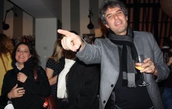 Alessandro Passadore ad una festa del regista Dario Acocella.