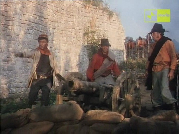 Antonio Orfanò nella scena della presa di Castelvolturno di Garibaldi il Generale