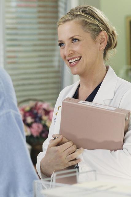 Grey's Anatomy: Jessica Capshaw in una scena dell'episodio Sympathy for the Parents