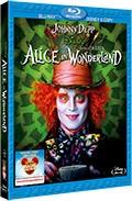 La copertina di Alice in Wonderland (blu-ray)