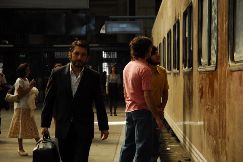 Ricardo Darín nella scena della stazione nel film Il segreto dei suoi occhi