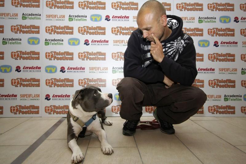 L'addestratore Simone Della Valle, ospite del Telefilm Festival 2010