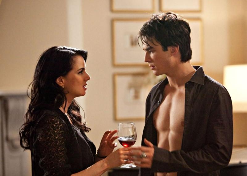 Una sequenza dell'episodio Isobel di Vampire Diaries con Mia Kirshner e Ian Somerhalder