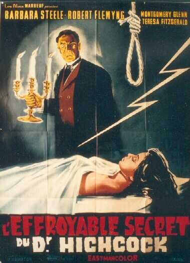 Locandina francese del film L\'orribile segreto del dottor Hichcock