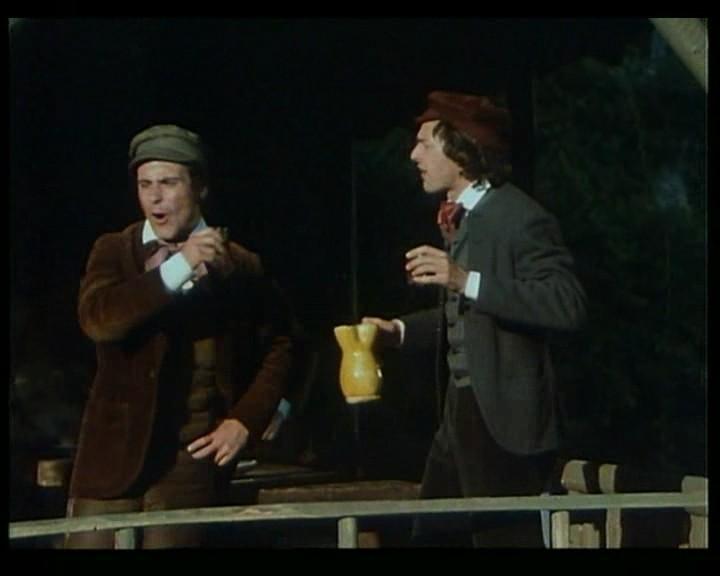Antonio Orfanò in una scena del film Verdi, regia di Renato Castellani
