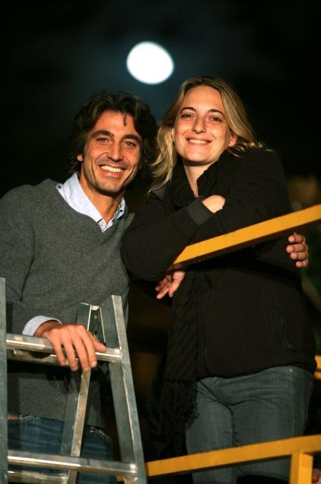 Daniele Liotti e la regista Isotta Toso sul set del film Scontro di civiltà per un ascensore a Piazza Vittorio
