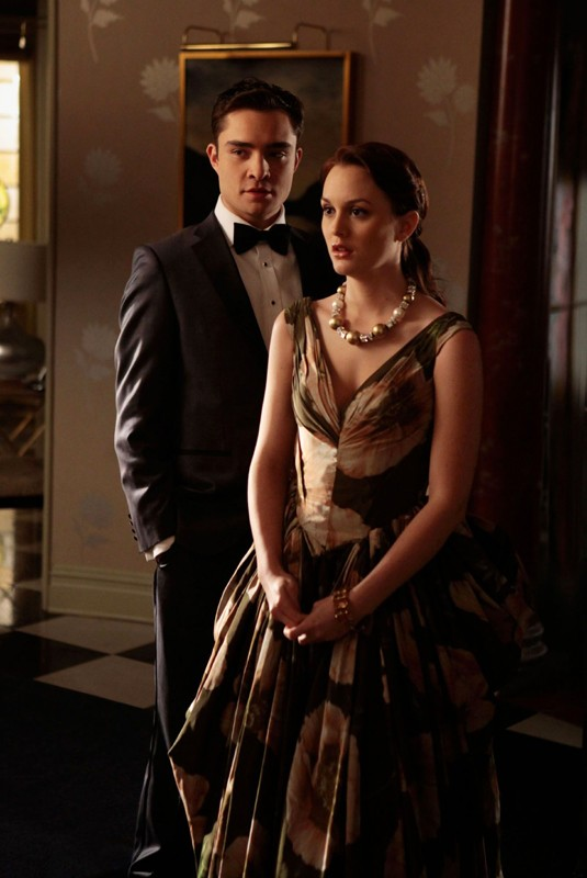 Ed Westwick e Leighton Meester dell'episodio Ex-Husbands and Wives di Gossip Girl