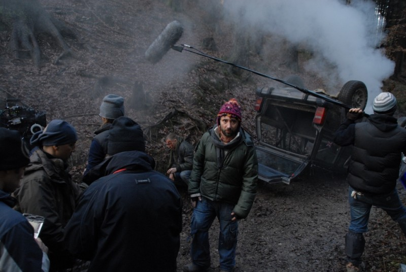 Federico Zampaglione durante le riprese del suo film Shadow