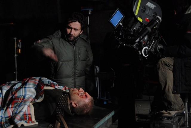 Federico Zampaglione sul set dell'horror Shadow