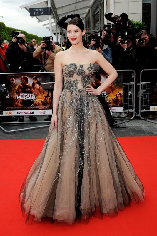 Gemma Arterton, protagonista di Prince of Persia: Le Sabbie del Tempo, alla premiere mondiale di Londra
