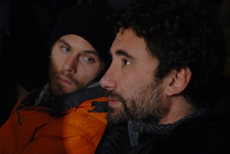 Jake Muxworthy e Federico Zampaglione sul set del film Shadow