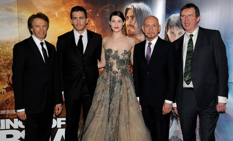 Jerry Bruckheimer, Ben Kingsley, Jake Gyllenhaal e Gemma Arterton alla premiere mondiale di Prince of Persia: Le Sabbie del Tempo