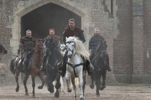 Russell Crowe in azione nel film Robin Hood