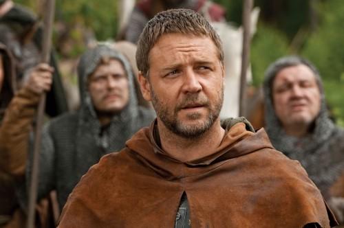 Un'immagine di Russell Crowe tratta dal film Robin Hood
