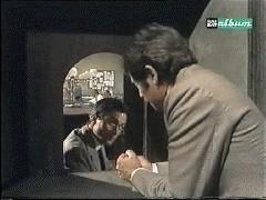 Antonio Orfanò con Corrado Pani nel film Bel Ami diretto da S. Bolchi.
