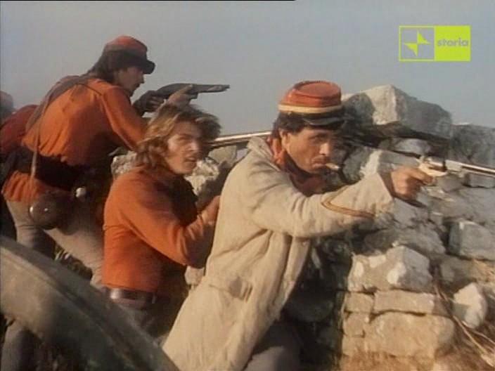 Antonio Orfanò con Kim Rossi Stuart in una scena di Garibaldi - Il Generale, di Luigi Magni