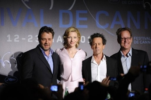 Cannes 2010: Russell Crowe, Cate Blanchett, Brian Grazer e Brian Helgeland presentano Robin Hood