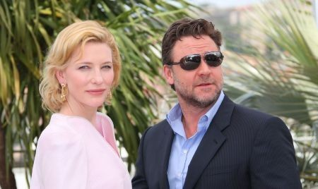 Cannes 2010: Russell Crowe presenta Robin Hood accanto a Cate Blanchett