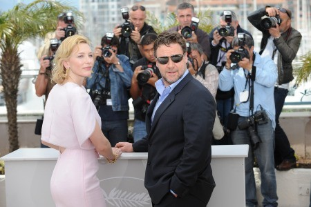 Cannes 2010: Russell Crowe presenta Robin Hood accanto a Cate Blanchett, interprete di Lady Marian