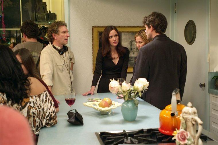 Hugh Dancy e Rose Byrne con il regista Max Mayer sul set del film Adam