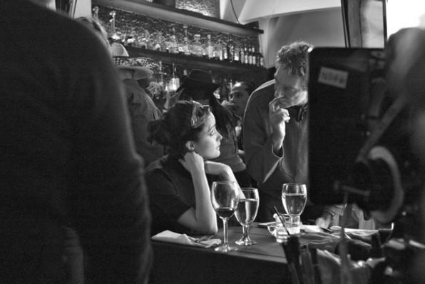 Rose Byrne con il regista Max Mayer sul set del film Adam